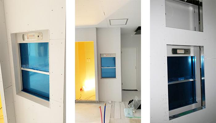 ダムウェーター(小荷物専用昇降機)をステーキ店に設置|長崎県長崎市