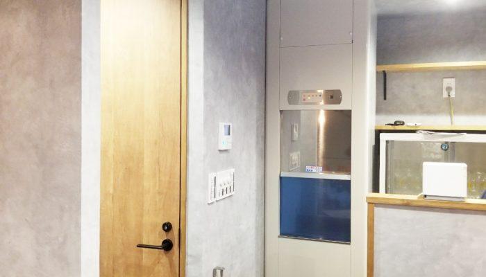 ダムウェーター(小荷物専用昇降機)を居酒屋に設置|埼玉県さいたま市