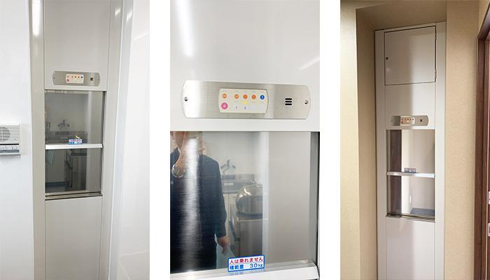 ダムウェーター(小荷物専用昇降機)をお好み焼き店に設置|和歌山県和歌山市