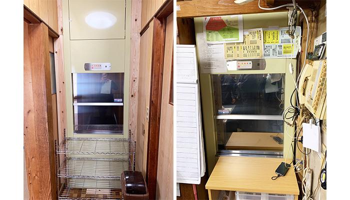 ダムウェーター(小荷物専用昇降機)を食事処に設置|佐賀県
