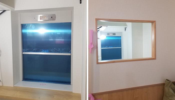 小荷物専用昇降機(ダムウェーター)を中華料理店に設置|埼玉県